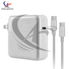 MACBOOK PRO NEW AIR 13 INCH 2018 APPLE TYPE-C HIGH PERFORMANCE LAPTOP ADAPTER CHARGER WITH CABLE 87W (WITH CABLE)
