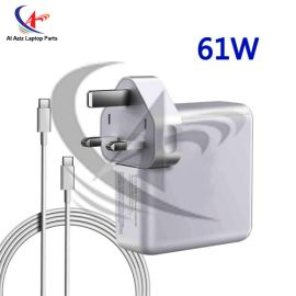 APPLE TYPE-C CHARGER 61W (WITH CABLE) C TYPE PIN (ORIGINAL) HIGH PERFORMANCE LAPTOP ADAPTER CHARGER WITH CABLE