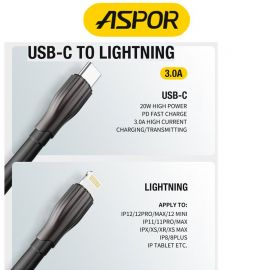 ASPOR A110 Type-C to Lightning Cable