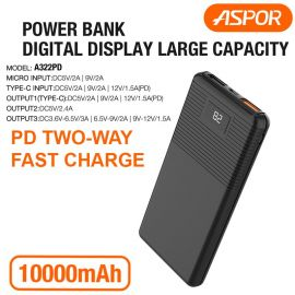 ASPOR A322PD 10000mAh PD Fast power bank