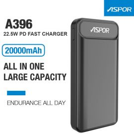 ASPOR A396PD 20000mAh PD Fast power bank