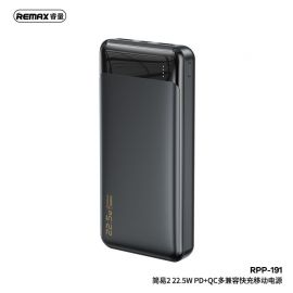 REMAX Jany II 22.5W PD+QC Multi-compatible Fast Charging Power Bank 20000mAh RPP-191 - BLACK