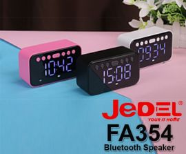 JEDEL BLUETOOTH Rechargeable SPEAKER & Table Clock FA354
