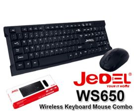 JEDEL WS650 Wireless Keyboard Mouse Combo