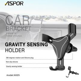 ASPOR A525 Gravity sensing car holder Triangle fixed silcone antiskid 360 degree rotations